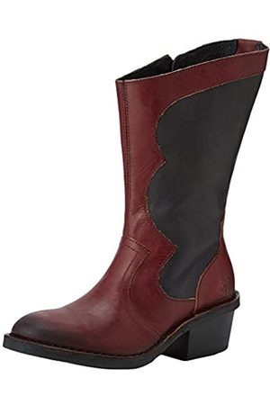 Fly London DUNE010FLY, Botas Camperas para Mujer, (Berry/Black 001)