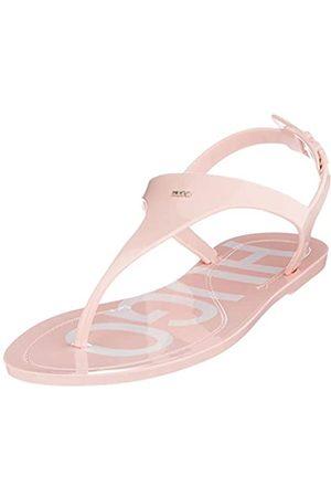 HUGO BOSS Emma Flat Sandal, Sandalias con Correa de Tobillo para Mujer, (Light/Pastel Pink 681)