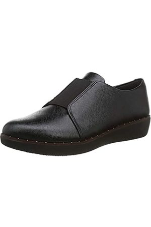 FitFlop Laceless Shoes, Zapatos de Cordones Derby para Mujer, (All Black 090)