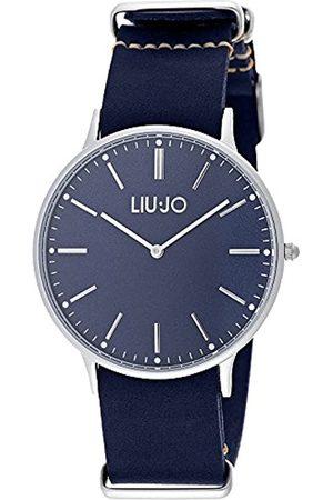 Liu Jo Navy - Reloj (Reloj de Pulsera, Masculino, Acero Inoxidable, Cuero