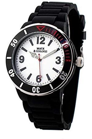 Watx Reloj Analógico para Adultos Unisex de Cuarzo con Correa en Caucho RWA1622-C1512