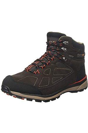 Regatta Samaris Suede' Waterproof Walking Boots, Botas de Senderismo para Hombre, (Peat/Burnt Salmon Uw4)