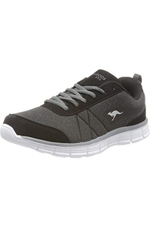 KangaROOS KR-Run Ref, Zapatillas para Mujer, (Jet Black/Steel Grey 5003)