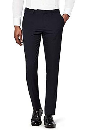 FIND Marca Amazon - Pantalón de Traje Ajustado con Textura Hombre