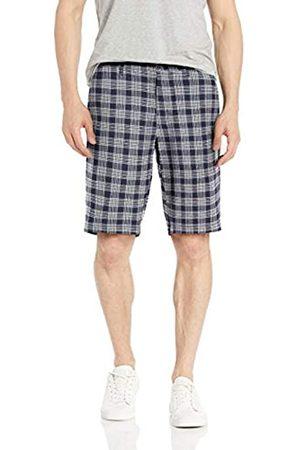 Goodthreads – Pantalón corto de lino elástico con tiro de 28 cm para hombre