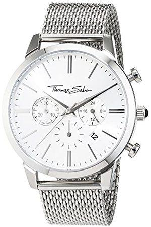 Thomas Sabo Hombre Reloj de Pulsera Eternal Chrono Malla Silver Cronógrafo Cuarzo Acero Inoxidable wa0244 - 201 - 42 mm