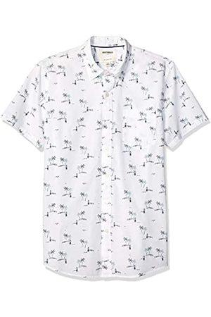US S para hombre Camisa c/ómoda de popel/ín el/ástico con manga larga Marca Navy Glen Plaid Goodthreads y de cuidado f/ácil corte entallado EU S