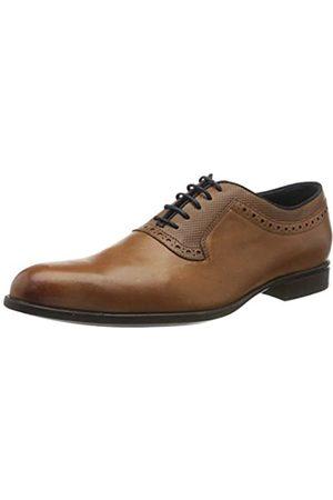 Geox U Iacopo A, Zapatos de Cordones Oxford para Hombre, (Dk Cognac C6026)