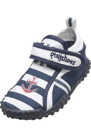 Playshoes Zapatillas de Playa con protección UV Marítimo, Zapatos de Agua Unisex Niños, (Marine/Weiss 171)