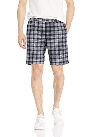 Goodthreads – Pantalón corto de lino elástico con tiro de 22,8 cm para hombre