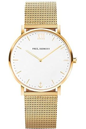 Paul Hewitt Reloj de Pulsera en Acero Inoxidable Sailor Line White Sand (para Mujeres y Hombres) - Reloj con Brazalete de Acero Inoxidable (Oro), Reloj de muñeca