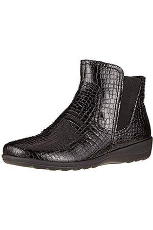 Caprice Vera, Botines para Mujer, (Black Croc Pat 65)