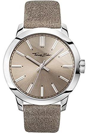 Thomas Sabo Reloj para señor Rebel at Heart Correa de cuero en color topo y look vintage WA0313-273-214-46 mm