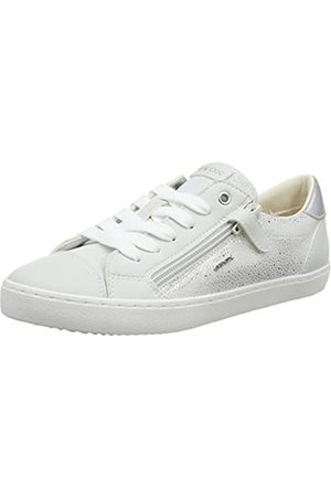 Geox J Kilwi Girl B, Zapatillas para Niñas, (White/Silver C0007)