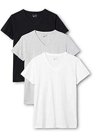 Berydale Camiseta de manga corta de mujer, con cuello de pico, pack de 3, en varios colores, /Blanco/