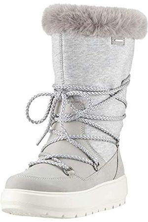 Geox D Kaula B ABX C, Botas de Nieve para Mujer, (Lt Grey/Dk Grey C1037)