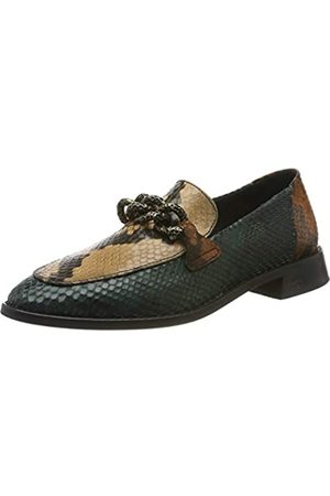SCOTCH & SODA FOOTWEAR LOEL, Mocasines para Mujer, (Mid Green+Snake Bro.Optics S715)