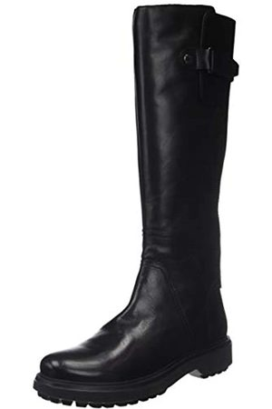 Geox D Asheely L, Botas Altas para Mujer, (Black C9999)