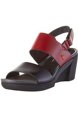 Art Rotterdam, Zapatos de tacón con Punta Abierta para Mujer, (Burdeos/Black Burdeos/Black)