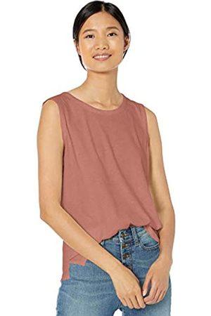 Goodthreads Washed Jersey Cotton Crewneck Muscle T-Shirt Fashion-t-Shirts, Dusty Rose