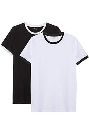 FIND Afm-014 camisetas hombre, (Black/White), 46 (Talla del fabricante: X-Small)