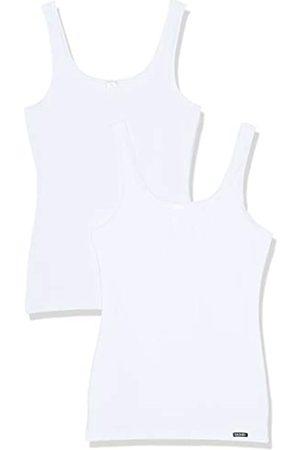 Skiny Advantage Cotton - Camiseta interior de sin mangas con cuello redondo para mujer, pack de 2