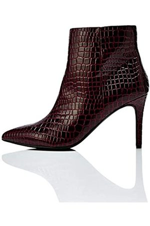 FIND High Point Botines, (Burgundy Croc)