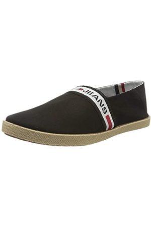Tommy Hilfiger Tommy Jeans Tape Summer Shoe, Mocasines para Hombre, (Black Bds)