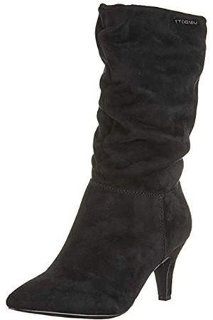 TOM TAILOR 7995404, Botas Altas para Mujer, (Black 00001)