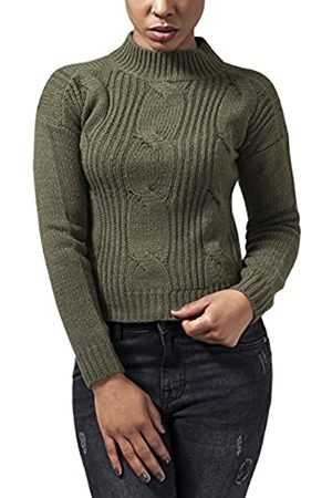 Urban classics Ladies Short Turtleneck Sweater Suéter XS para Mujer