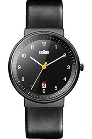 von Braun BN0032BKBKG - Reloj análogico de cuarzo con correa de cuero para hombre