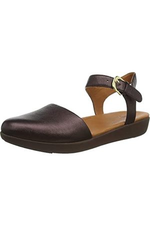 FitFlop Cova II Quarter Strap-Leather, Merceditas para Mujer