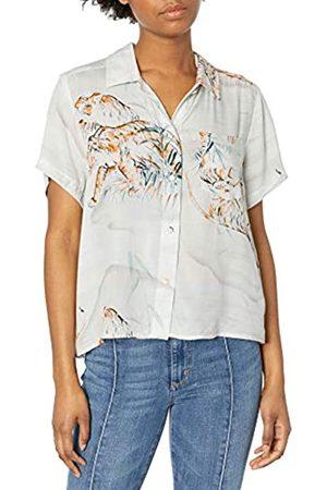 Hurley W Getaway Printed S/S Camisa, Mujer