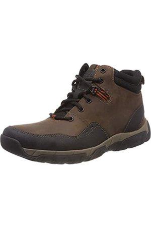 Clarks Walbeck Top II, Botas de Nieve para Hombre, (Brown Leather)