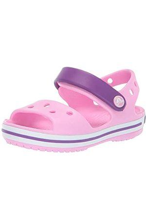 Crocs Crocband Sandal Kids, Sandalias Unisex Niños, (Carnation/Amethyst)