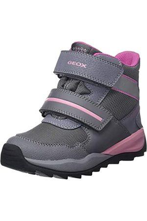 Geox J Orizont B Girl ABX D, Botas de Nieve para Niñas, (Grey/Pink C0502)