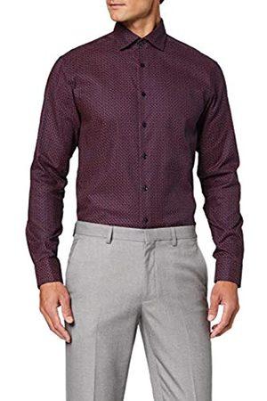 Seidensticker Bedrucktes Hemd Mit Einem Kent-Kragen – Passform Regular Fit – Langarm – Paisley Camisa, (Navy 19)