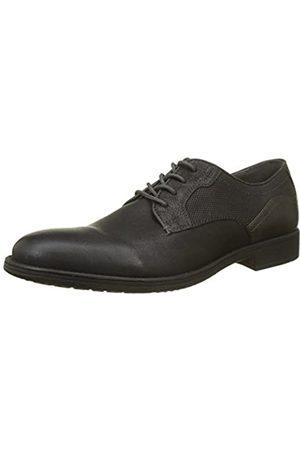 Geox U Jaylon E, Zapatos de Cordones Derby para Hombre, (Black/dk Grey)