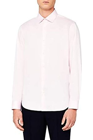 MERAKI Camisa de Vestir de Corte Recto Hombre