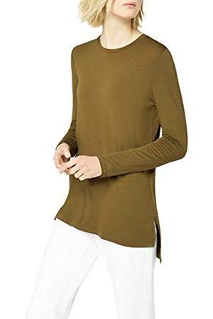 FIND Side Split Drape Blusa