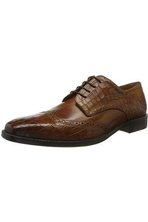 Melvin & Hamilton Jeff 1, Zapatos de Cordones Derby para Hombre, (Tan Crock-Tan-Crust-Tan-Crock-Tan-Lining-Rich Tan-Insole Leather-HRS-Burgundy)