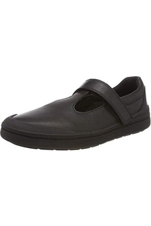 Clarks Rock Move K, Bailarinas para Niñas, (Black Leather-)