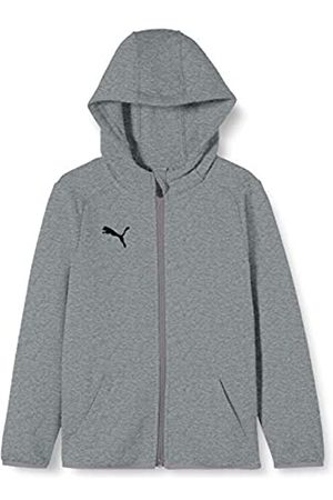 Puma Liga Casuals Hoody Jacket Jr Sudadera, Unisex niños, (Medium Gray Heather/Black)