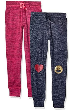 Spotted Zebra 2-Pack Cozy Knit Joggers Pants, Emoji/Pink