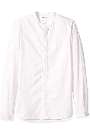 Goodthreads Marca Amazon – – Camisa Oxford con cuello en banda de manga larga de corte entallado para hombre