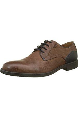 Geox U Jaylon E, Zapatos de Cordones Derby para Hombre, (Cognac/Blue)