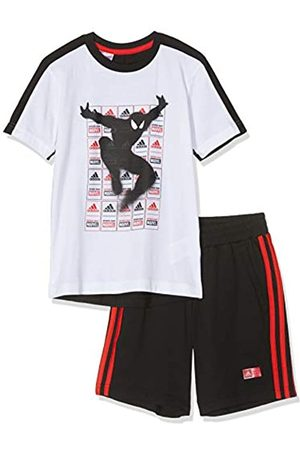 adidas Spiderman Summer Set Jogger, Bebé-Niños, (White/Black/Active Red)