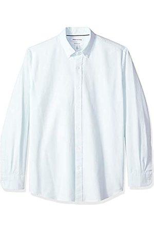 Amazon – Camisa Oxford de manga larga de corte recto de rayas para hombre