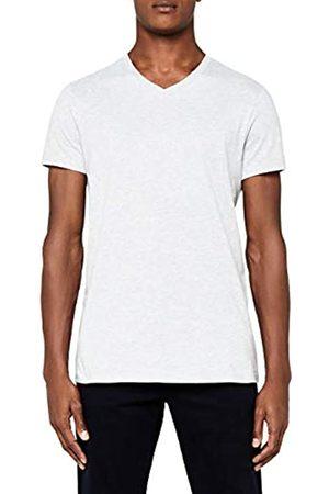 MERAKI Camiseta de Manga Corta con Cuello de Pico Hombre