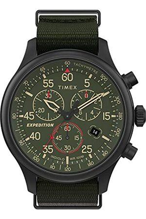 Timex Hombre Relojes - Reloj Análogo clásico para Hombre de Cuarzo con Correa en Tela TW2T72800
